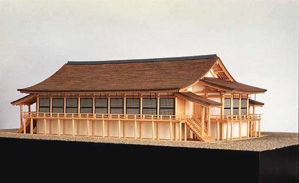 内裏正殿復原模型(向日市文化資料館)
